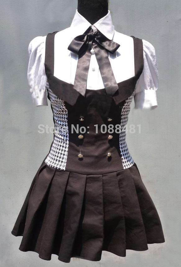 Inu x Boku SS Cosplay Costumes Dress Uniform Inu Boku Shirakiin Ririchiyo Roromiya Karuta Dress Cosplay Costumes