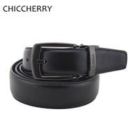 Retail New Fashion Cintos Femininos Metal Pin Buckles Casual Black Genuine Cowhide Leather Waist Belt For