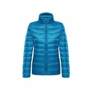 Image 3 - Vestes en duvet de canard pour femmes, Ultra léger, 5XL et 6XL, manteau chaud à manches longues pour femmes, manteau dhiver, vêtements dextérieur automne