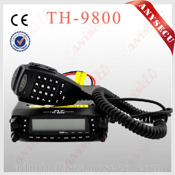 Th9800 tyt th-9800 transceptor móvel estação de rádio automotivo 50 w repetidor 809ch scrambler quad band v/uhf caminhão do carro rádio
