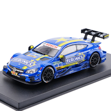 High Simulation Painting Diecaste Vehicles Leksak Fordon Bil För Benz C63 AMG DTM Race Car 1:43 Alloy Dysolbil Modell Toy Toy Car