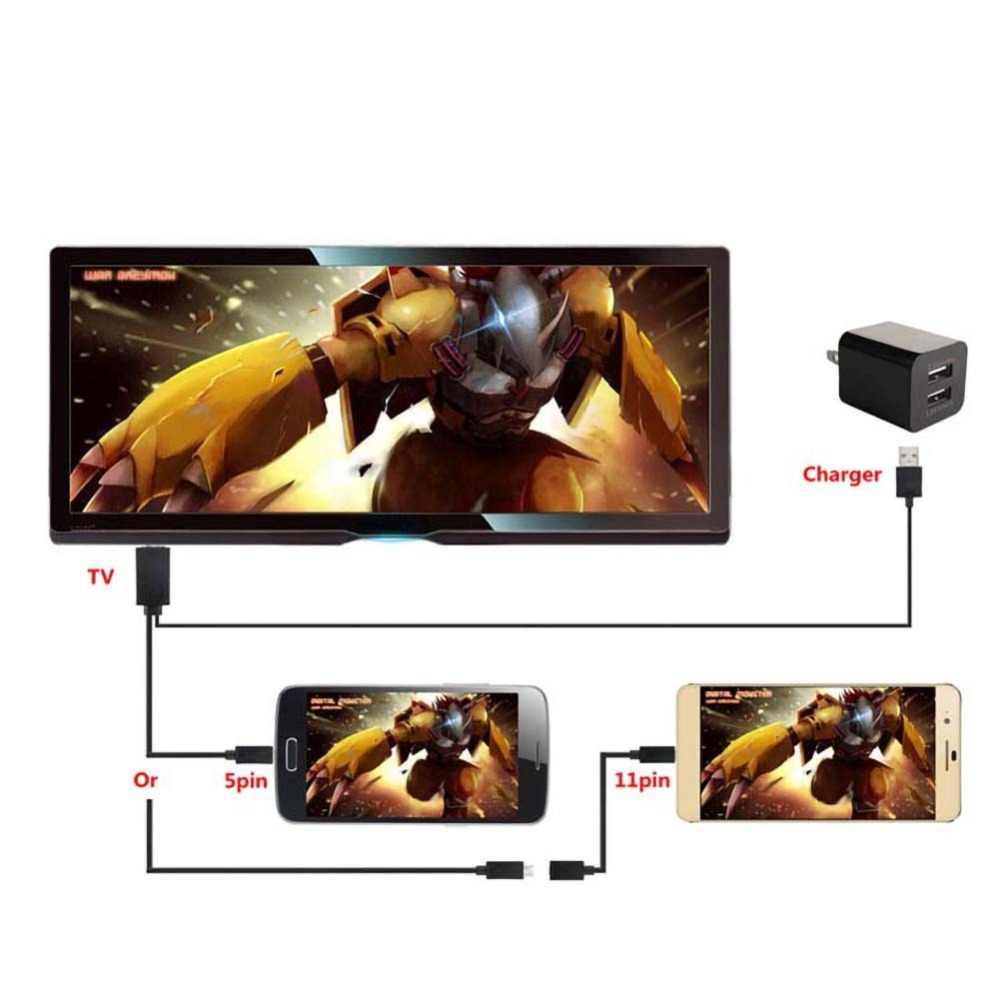 5 PIN & 11 Pin 1080P MHL Micro USB untuk HDMI Kabel Adaptor Converter untuk Samsung S4 S5 Catatan 4 dan Ponsel Android Lainnya