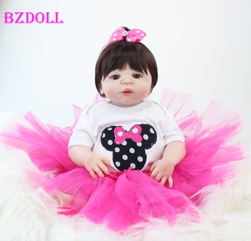 55cm Full Silicone Baby-Reborn Doll Toy Newborn Princess Toddler Babies Doll Girl Bonecas Brinquedos Kid Bathe Toy Birthday Gift55cm Full Silicone Baby-Reborn Doll Toy Newborn Princess Toddler Babies Doll Girl Bonecas Brinquedos Kid Bathe Toy Birthday Gift