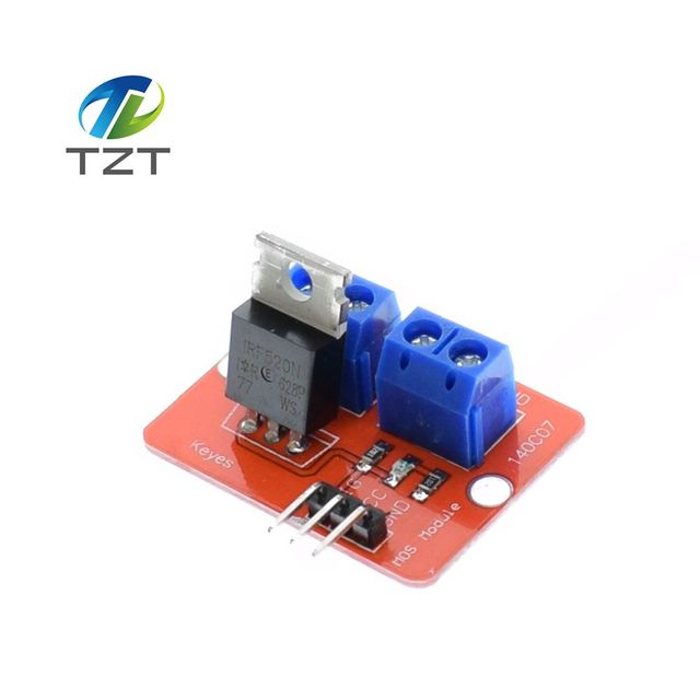 1PCS 0-24V Top Mosfet Button IRF520 MOS Driver Module For Arduino MCU ARM Raspberry pi