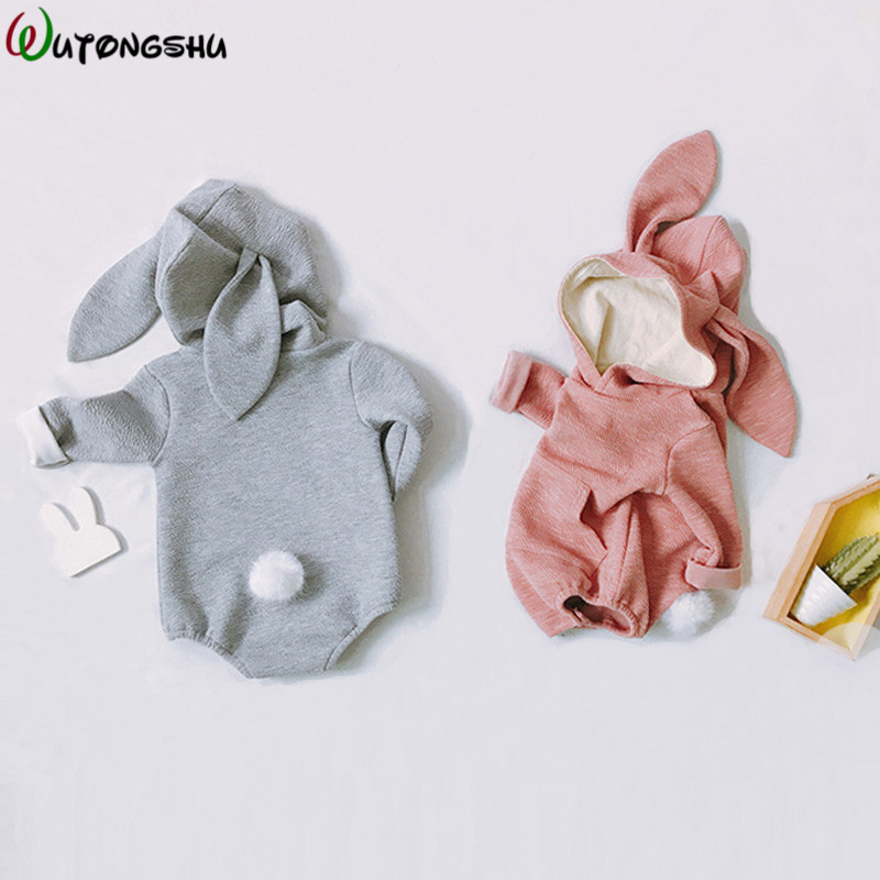 Baby Girl   Rompers   Autumn Rabbit Children's Conjoined Clothes Baby Girl Outerwear Clothes Winter Baby Boy Body For Newborn Babies