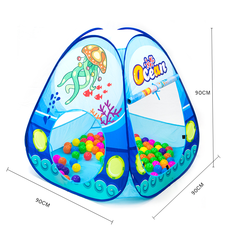 Portable-Children-Play-Tents-Folding-Kids-Ocean-Animals-Toy-Tent-Outdoor-Garden-House-Castle-Tent-For