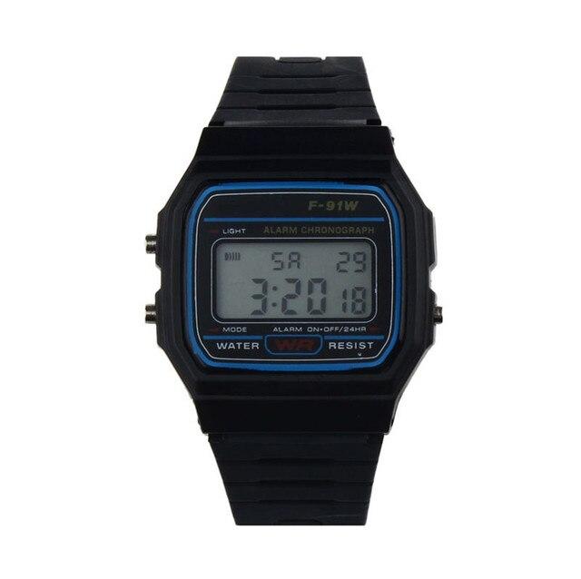 Children's Watches Silicone Rubber Strap Retro Vintage Digital Watch Boys Girls