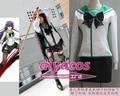 New  Nylon Highschool of the Dead Fujimi High School Uniform Cosplay Costume