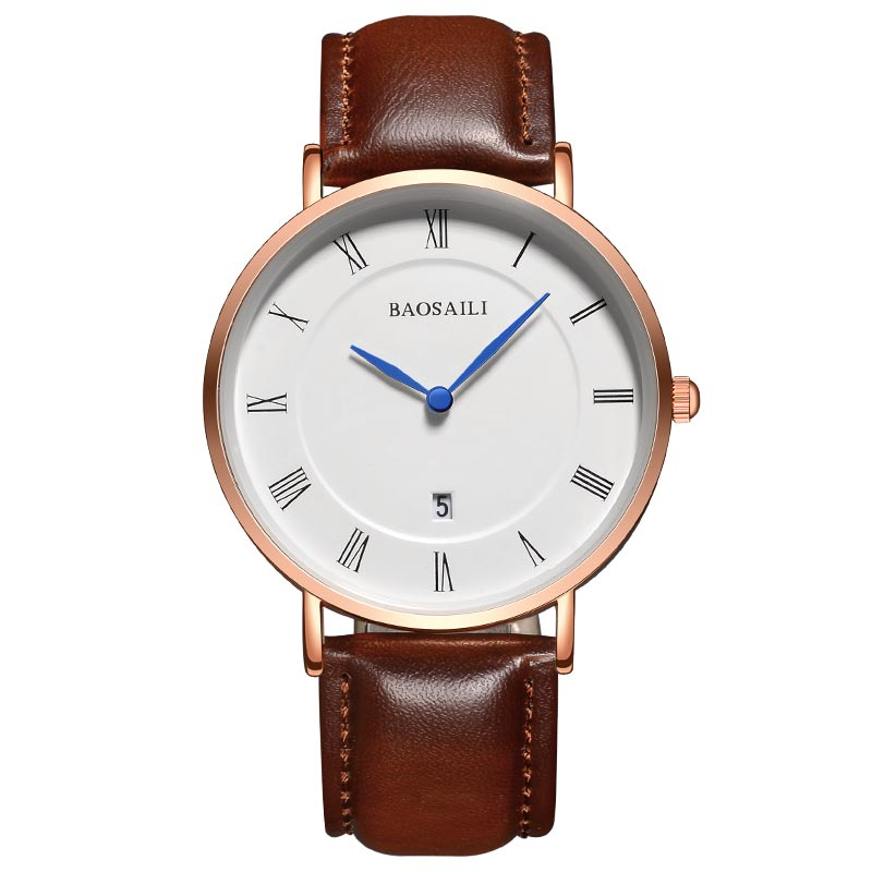 BAOSAILI Top Brand Wrist Watch Men Watches Luxury Famous Male Clock Unisex Simple Classic Quartz Genuine Leather Watch BS8211 xinge top brand luxury leather strap military watches male sport clock business 2017 quartz men fashion wrist watches xg1080
