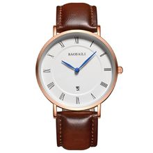 BAOSAILI Top Brand Hombres Reloj de Pulsera Relojes de Lujo Famosos Hombres Reloj Unisex Simple Clásico de Cuarzo Reloj de Cuero Genuino BS8211