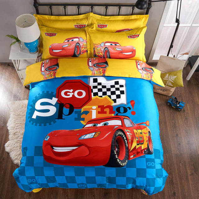 Lightning Mcqueen Printed Bedding Comforter Set Duvet Covers Sheets Children S Boys Baby Bedroom Cotton 600tc