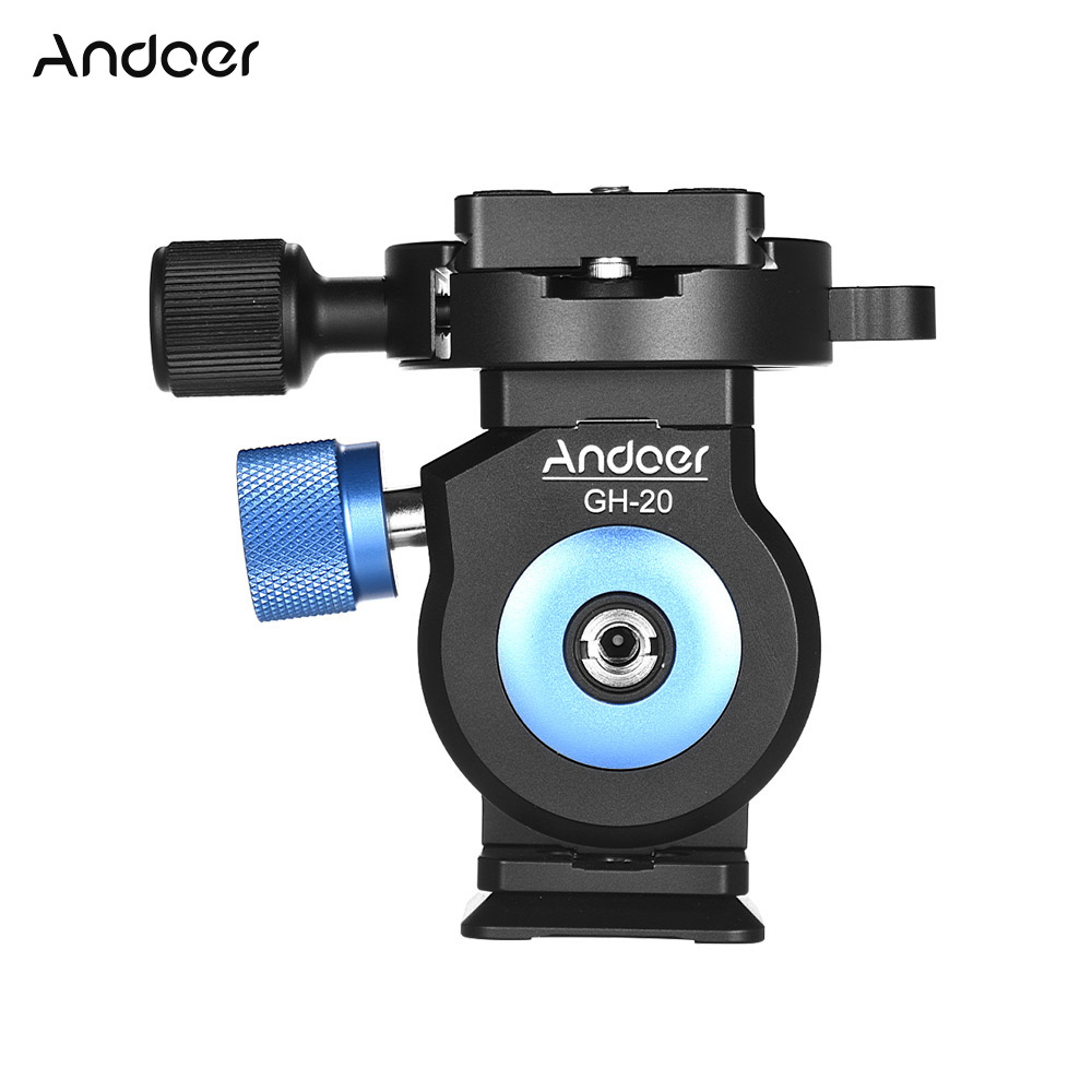 Andoer Aluminum Alloy Tripod GH 20 Tilt Head CNC Monopod Ball Head with Quick Release Plate