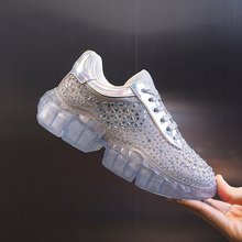 JELLYFOND Rhinestone Sneakers Women Platform Sneakers Luxury Casual Shoes Woman Chunky Trainers Ladies Dad Shoes Tenis Feminino