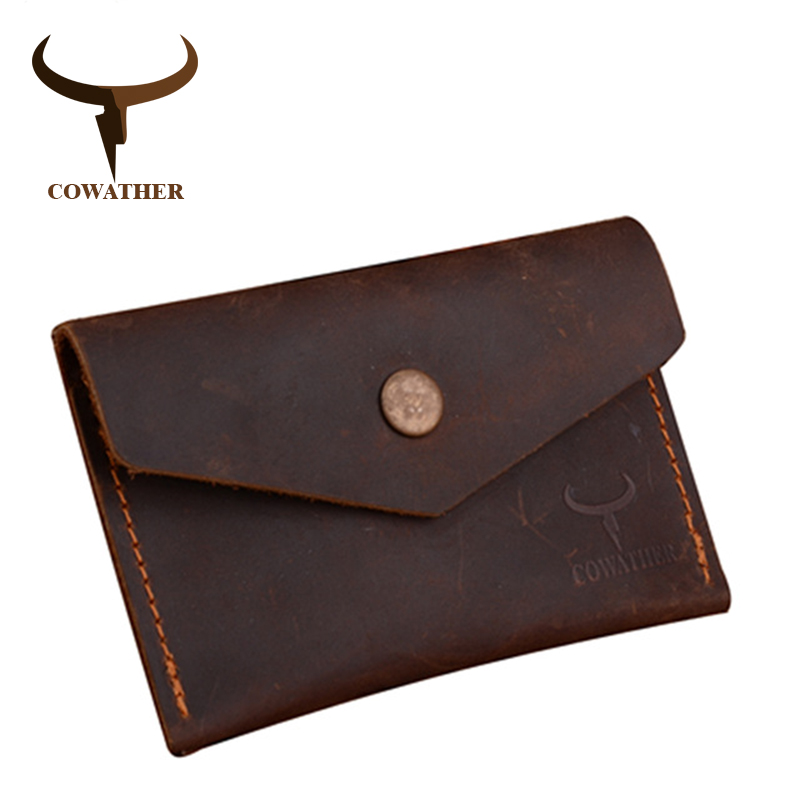 COWATHER 100% Crzay Horse High Quality Leather Men Wallet Luxury Male Purse Dollor Price Carteira Masculina 111 Free Shipping