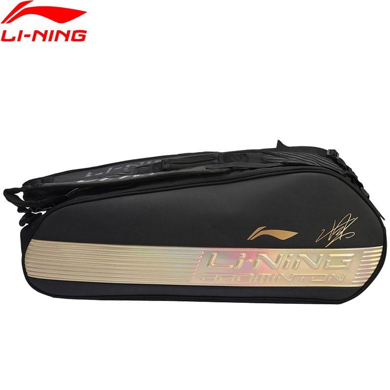 Li Ning Badminton Racket Bag 6 pack Chen Long Sponsor Professional Sports Athletic Racquet Bag ABJN098