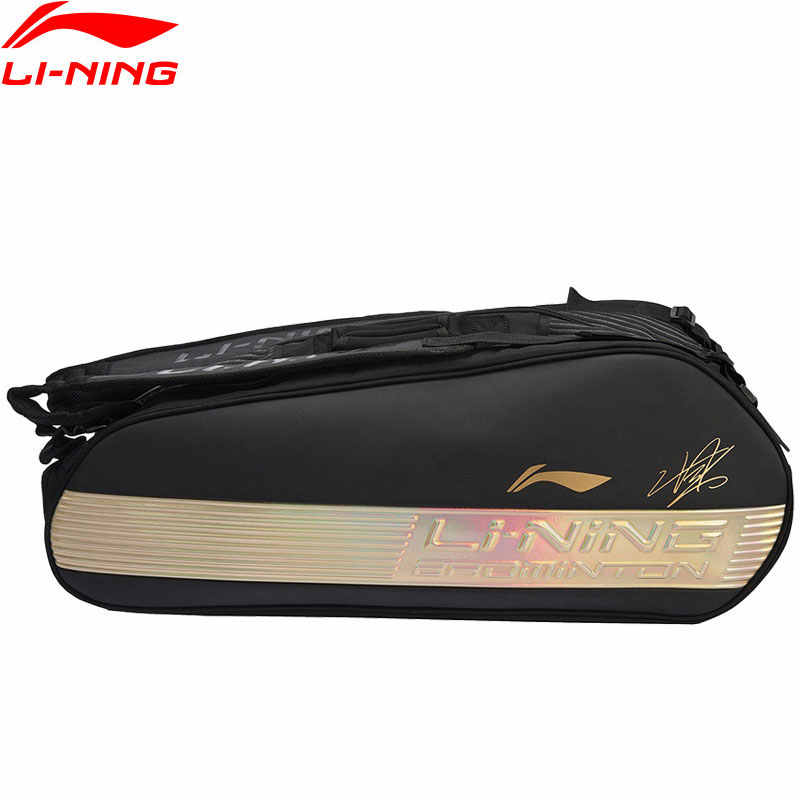 Li-Ning Badminton Racket Bag 6-pack Chen Long Sponsor Professional Sports Athletic Racquet Bag ABJN098 JFM19