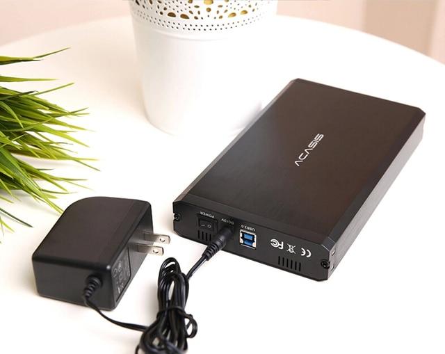 High Quality Aluminum Alloy Acasis BA-06US 3.5 Inch USB 3.0 To SATA External HDD Enclosure 4TB Hard Drive Case Black 10059TW