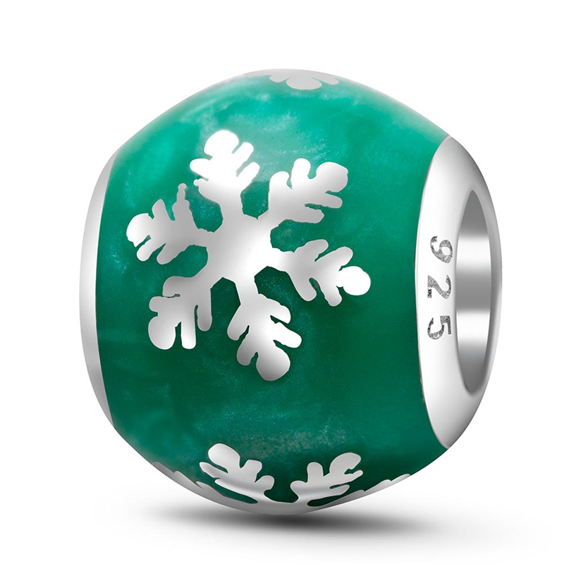 Choruslove High Class Enamel Xmas Tree Reindeer Snowflake Charms 925 Sterling Silver Round Bead fit Pandora Christmas Bracelet in Beads from Jewelry Accessories