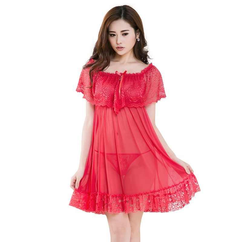 6fd333b30ab ... 2019 Sexy lace women nightgown Women pyjamas Net yarn night dress  Charming sleep skirt Lingerie Sleepwear