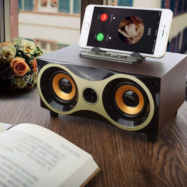 Wooden Wireless Bluetooth Speaker Subwoofer with FM 3