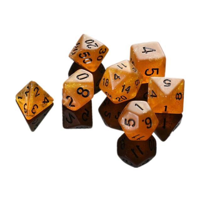 7 pçs/set Glowing Dice Dados Poliédricos Definir para o Papel Que Joga o Jogo Dungeons & Dragons MTG
