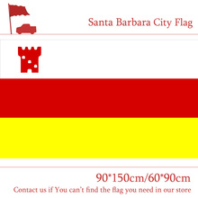 Free shipping 90*150cm 60*90cm Flag 100d Custom Polyester 3x5ft US Santa Barbara City Of California State