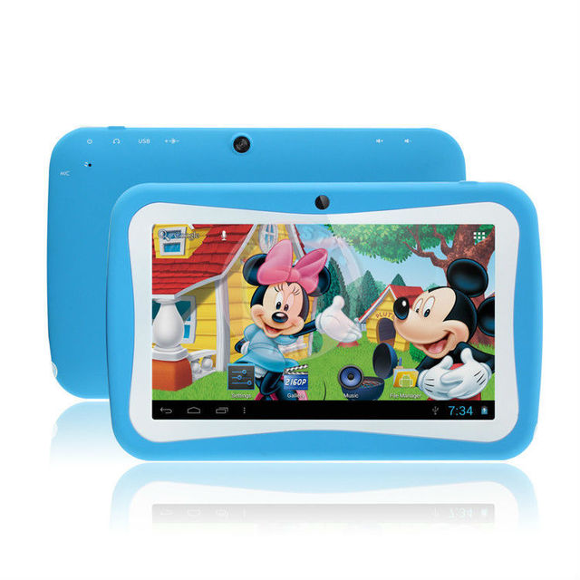 5pcs/lot  DHL Free Shipping 2016 Best Trend 7 inch Educational Kids Tablets PC Android 5.1 Dual Camera with Rubber Case WIFI