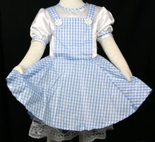 Free Shipping Girls WIZARD OF OZ DOROTHY DRESS COSTUME / Carnival / Cosplay / Halloween Szie 2-5Y
