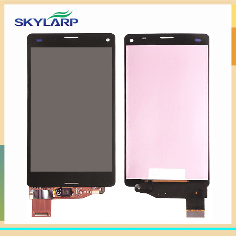 LCD screen for Sony D5803 Xperia Z3,D5833 Xperia Z3 Compact Mini display panel with touch digitizer glass (with logo) lcd touch screen digitizer glass for sony xperia z2 d6502 d6503 d6543