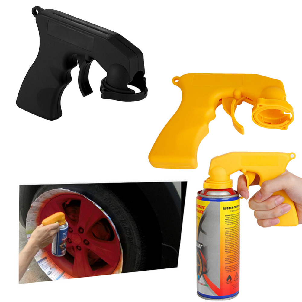 Spray Adaptor Paint Care Aerosol Spray Gun Handle with Full Grip Trigger Locking Collar Car Maintenance Hand Tools for Car