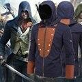 Assassins creed костюм assassins creed куртка единства арно балахон черный с голубой оттенок с 5 сменных патчи М-5XL z004