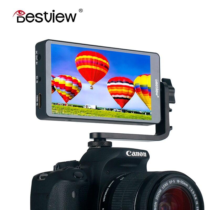 BestView S5 5 Pouces 4 k HD 1080 p Caméra Vidéo Moniteur avec L Plaque Support HDMI 360 Rotation 1920*1080 Sur Caméra Moniteur pour DSLR