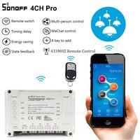 Sonoff 4CH Pro RF Wifi Smart Switch 4 Gang 433MHZ Mounting Wireless Control Wi Fi Smart