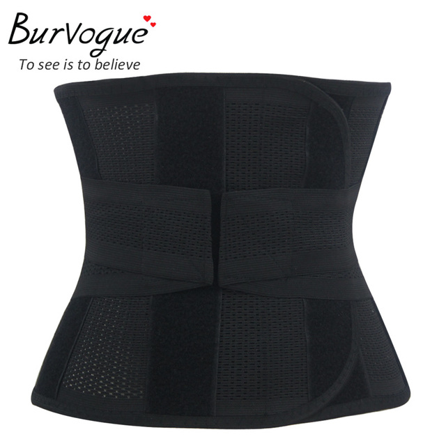 Burvogue homens Shaper preto cintura Cincher Shapewear emagrecimento cintas Shapers do corpo e barriga cintura Tummy Trimmer corpo cueca