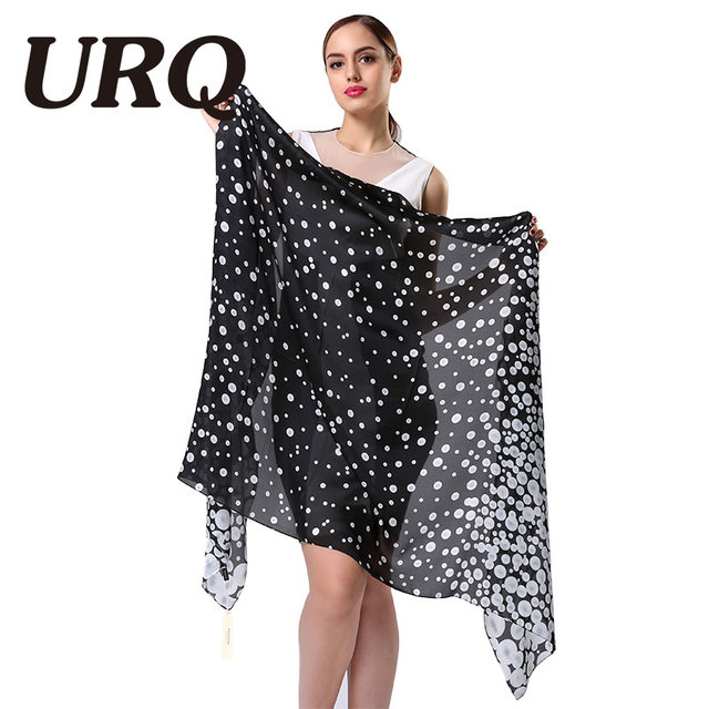 2016 Fashion Silk Scarf Women Print dot Spring Scarves Brand Bandana High Quality Long Shawl Cape Luxury Foulard shawl