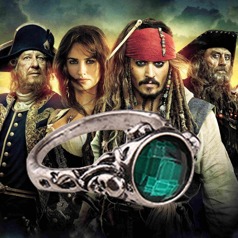 The Pirates of the Caribbean Rings Captain Jack Sparrow Rings of Death Finches Skull Skeleton Ring For Men And Women