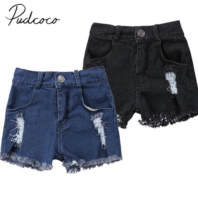 2018 Marke Neue Kleinkind Infant Sommer Kind Kinder Baby Junge Mädchen Ripped Loch Waschen Jeans Shorts Hosen Hot Pants Sommer Jeans Shorts Einfach Zu Verwenden