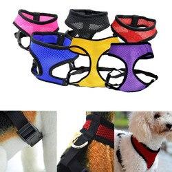 Ajustable comodidad suave transpirable perro mascota chaleco cuerda pecho Correa Collar