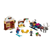 Friends Series Princess Anna Ice Kingdom Realm Kristoff Sled Adventure Figures 79276 Blocks Building Legoing Friend 41066 Toys 203pcs friends vet clinic princess anna and kristoff s sleigh model set building blocks friends gifts toys princess