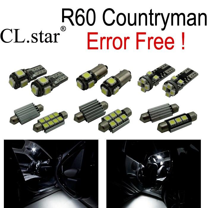 13pc X Error free for Mini Cooper S Base Countryman R60 LED Lamp Interior Light Kit