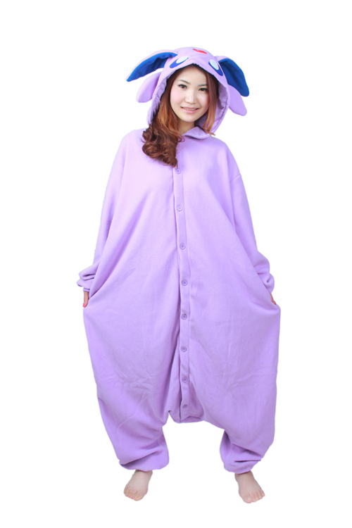 Cartoon Anime Charakter Pokemon Espeon Kostüm Erwachsene Onesie Frauen Männer Pyjamas Halloween Christmas Party Kostüme