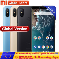 Global Version Xiaomi Mi A2 4GB RAM 32GB ROM Mobile Phone Dual 20.0MP Snapdragon 660 Octa Core 3010mAh 5.99