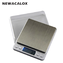 NEWACALOX 500g x 0.01g Digital Scale Sterling Silver Jewelry Scale 0.01 Pocket Electronic Scales 0.01g