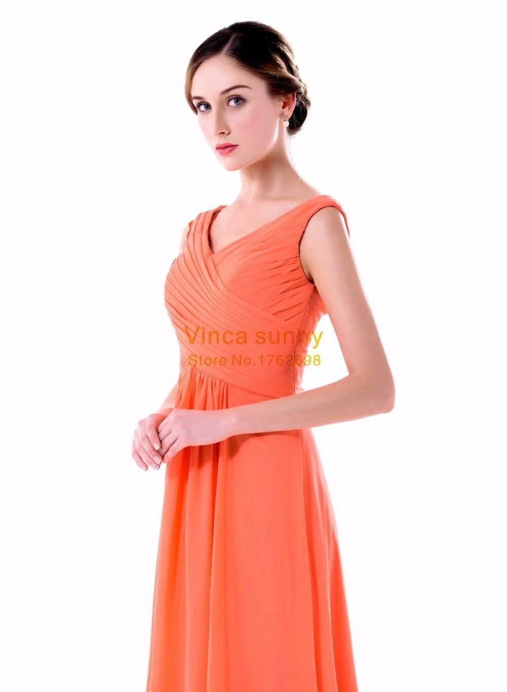 Aliexpress.com   Buy Vinca sunny Elegant Women Chiffon V Neck Bridesmaid  Dresses cheap vestido festa casamento longo madrinha dress for bridesmaid  from ... 16c9dc60f459