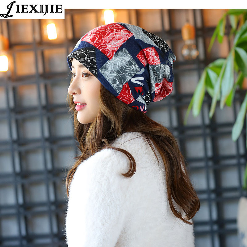e34f8c8ce08 autumn winter Multi-function Set head caps Thin face cap Knitted cap  Imitation of cashmere hat Hollow ...