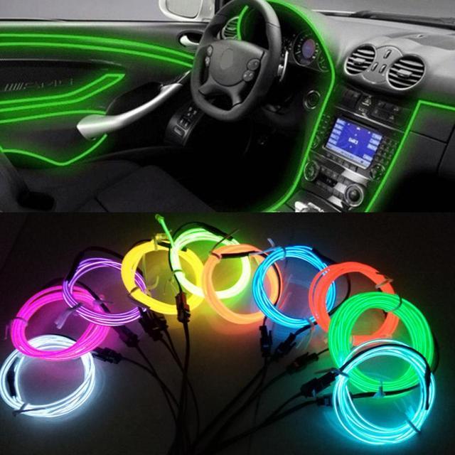 3 Mt Flexible Led Neon Licht Glühen El drahtseil schlauch auto led ...