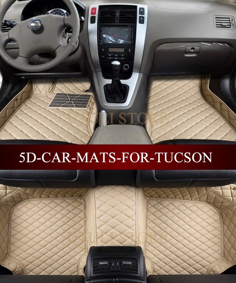 Tapetes de cuero para el auto para Hyundai Elantra Santa Fe Sonata - Accesorios de interior de coche - foto 3