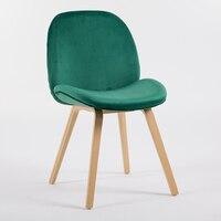 Стул в скандинавском стиле современный простой креативный деревянный обеденный стул кафе домашний Досуг модный тканевый обеденный стул