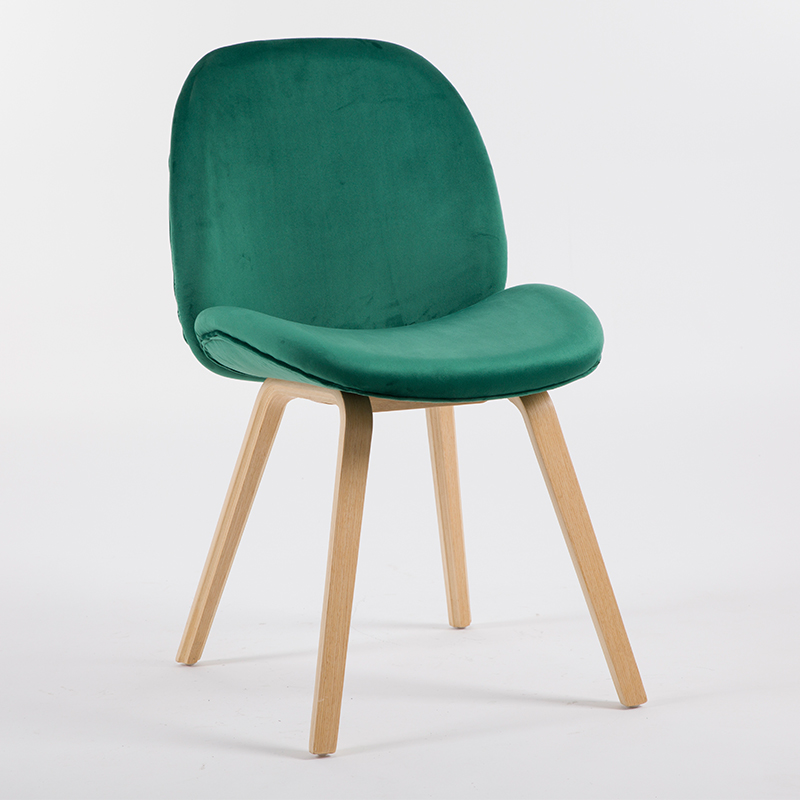 Nordic Style Chair Modern Simple Creative Wood Dining Chair Cafe Home Leisure Fashion Fabric Dining Chair italian modern nordic chair home restaurant cafe hotel chair practical windsor chair the study chair