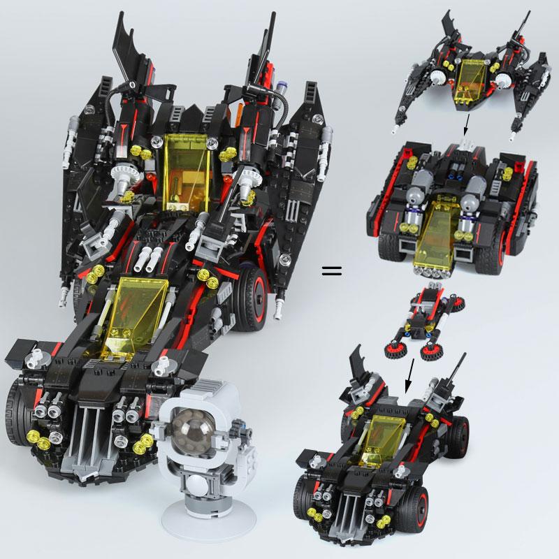 1496 pcs 배트맨 영화 시리즈 궁극적 인 batmobile 07077 세트 교육 빌딩 블록 벽돌 장난감 70917 세트와 호환 가능-에서블록부터 완구 & 취미 의  그룹 1